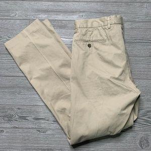 J.Crew Men's Flat Front Khaki Chino Pants 35x32